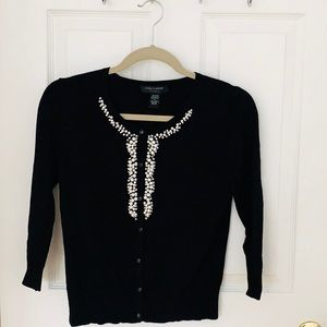Black Pearl and Diamond Cardigan